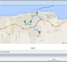 Screenshot of Google Maps integration in Result